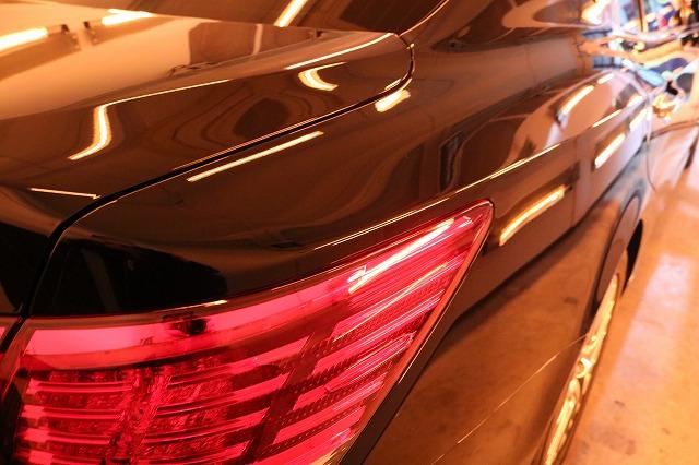 トヨタのクラウンマジェスタにカーコーティングを施工 乾燥画像