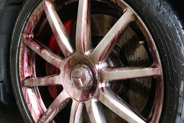 メルセデスベンツS63にカーコーティングを施工 鉄粉除去の画像