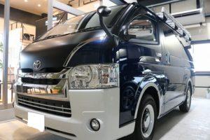 トヨタハイエースにセラミックコーティングを施工