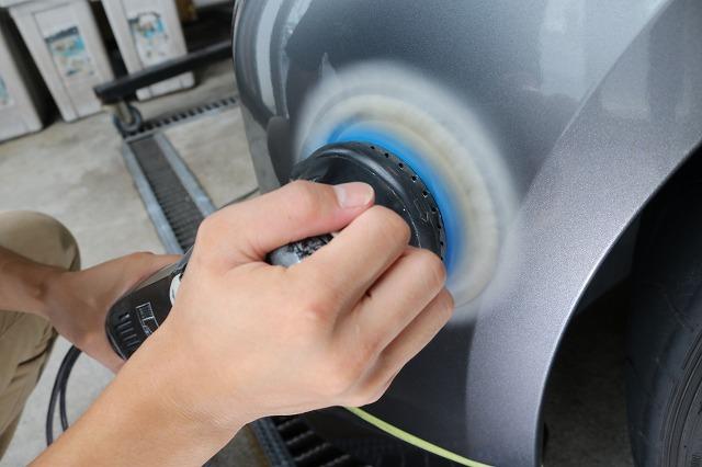 日産GTRに疎水性カーコーティング「ファンラボセラミック」施工 鏡面研磨画像