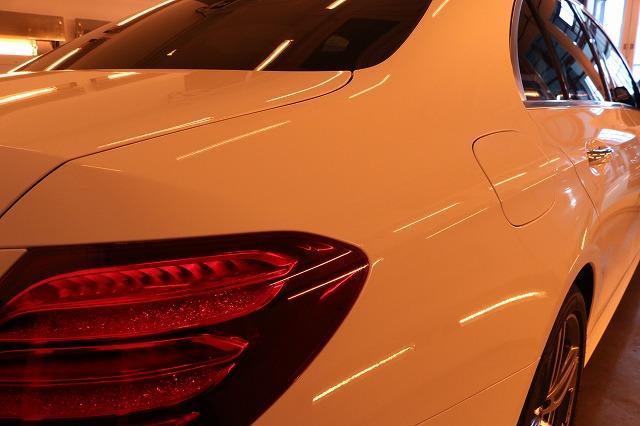 新車メルセデスベンツE220dにカーコーティングを施工 遠赤外線画像