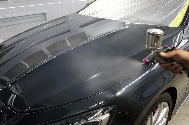 メルセデスベンツS63にカーコーティングを施工 吹付コーティングの画像