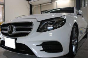 新車メルセデスベンツE220dにカーコーティングを施工