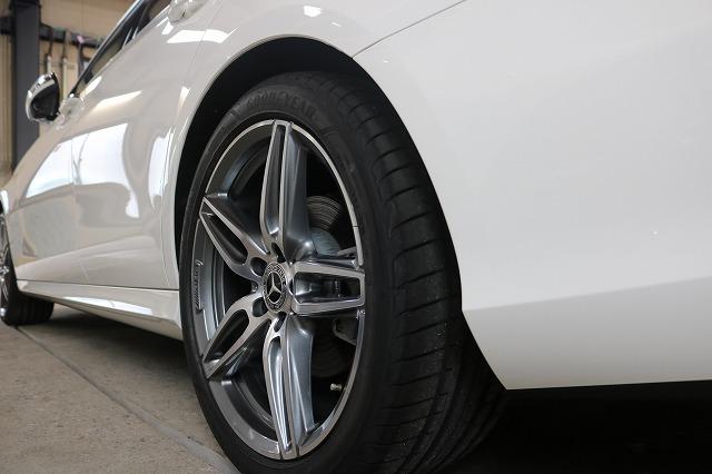 新車メルセデスベンツE220dにホイールコーティングを施工後 ホイール画像