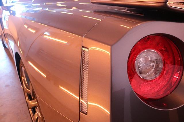 日産GTRに疎水性カーコーティング「ファンラボセラミック」施工 乾燥画像