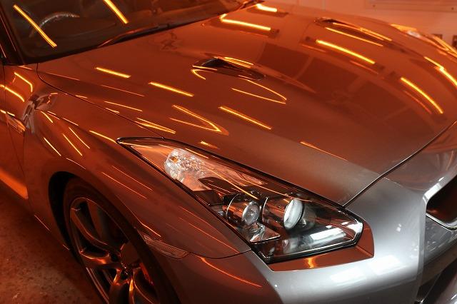 日産GTRに疎水性カーコーティング「ファンラボセラミック」施工 遠赤外線画像
