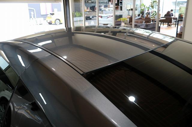 日産GTRに疎水性カーコーティング「ファンラボセラミック」施工後 ルーフ画像