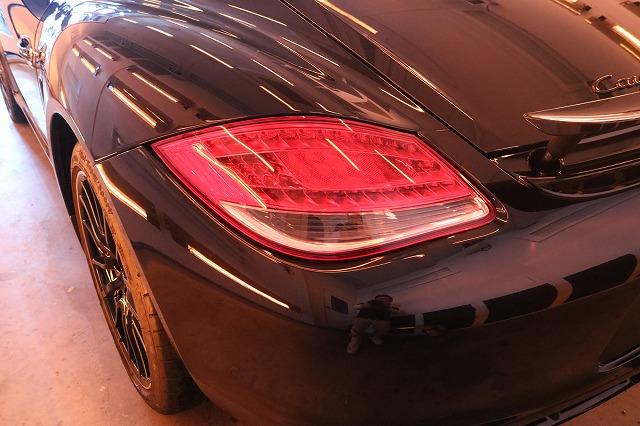 ポルシェケイマンSにカーコーティング施工 コーティング被膜乾燥の画像