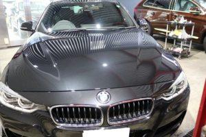 BMW320iにガラスコーティング施工
