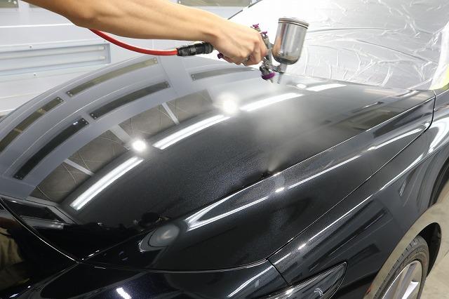 MAZDA3にクォーツガラスコーティング施工 吹付コーティングの画像