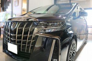 新車 トヨタのアルファードにカーコーティングを施工