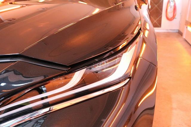 トヨタハリアーにカーコーティングを施工 焼付画像