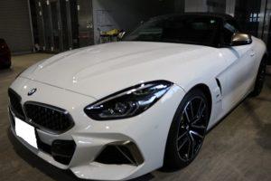 BMW Z4にパーツコーティング施工