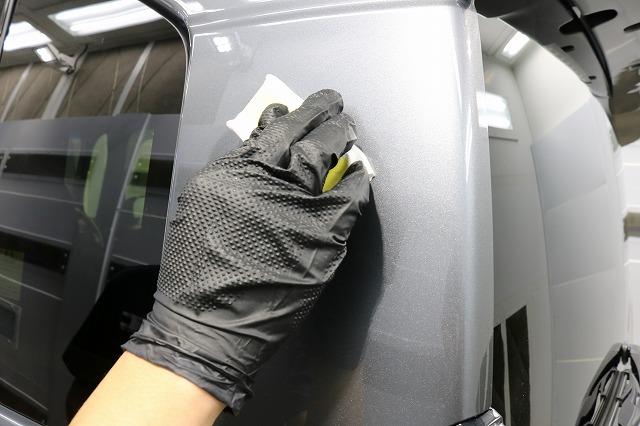 ホンダN-BOXにセラミックプロ9H施工 コーティング塗り込み画像