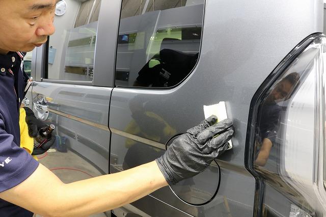 ホンダN-BOXにセラミックプロ9H施工 コーティング塗布画像