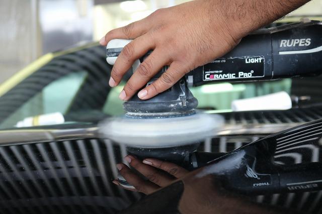 BMW440iへカーコーティング施工 研磨画像