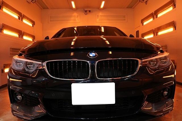BMW440iへカーコーティング施工 遠赤外線画像