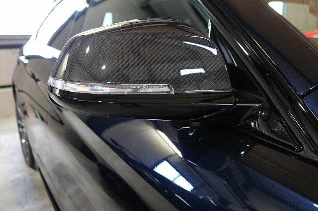 BMW440iへカーコーティング施工後 ミラー画像