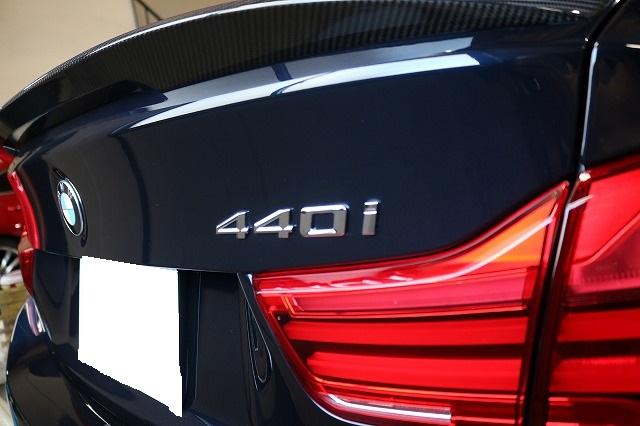 BMW440iへカーコーティング施工後 リア画像