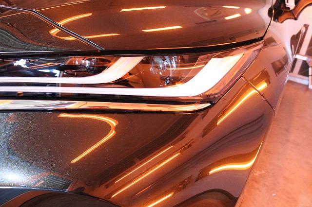 トヨタハリアーにカーコーティング施工 遠赤外線画像