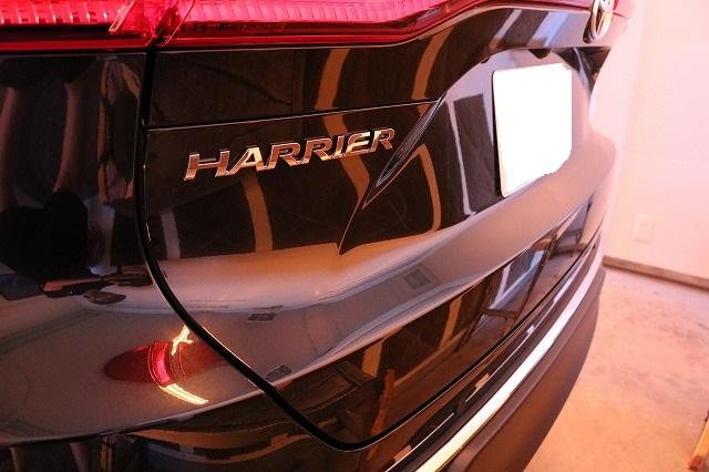 トヨタハリアーにカーコーティング施工 遠赤外線焼き付け画像