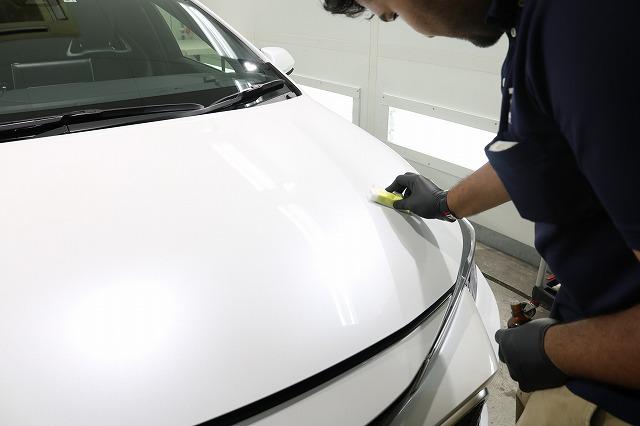 トヨタカローラスポーツカーコーティング コーティング塗布画像