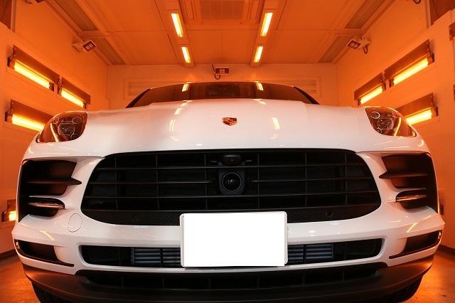 新車ポルシェマカンにセラミックコーティング施工 遠赤外線画像