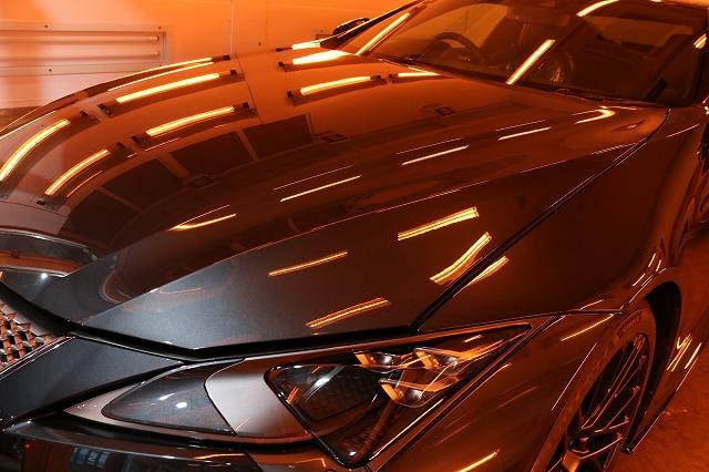 新車レクサスLC500hにファインラボヒールプラスを施工 焼付画像