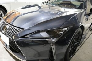 新車レクサスLC500hにファインラボヒールプラスを施工