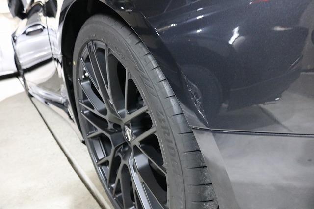 新車レクサスLC500hにバリアタフホイールコートを施工後 ホイール画像
