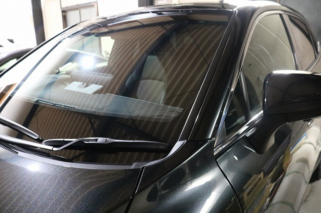 トヨタハリアーにウィンドウコーティング施工後 フロントガラス画像