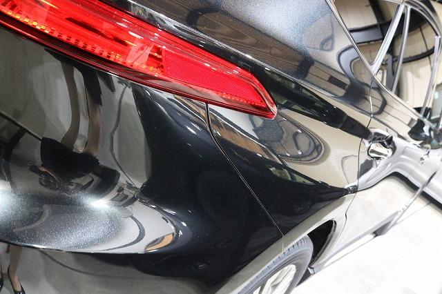 トヨタハリアーにカーコーティング施工後 リアサイド画像