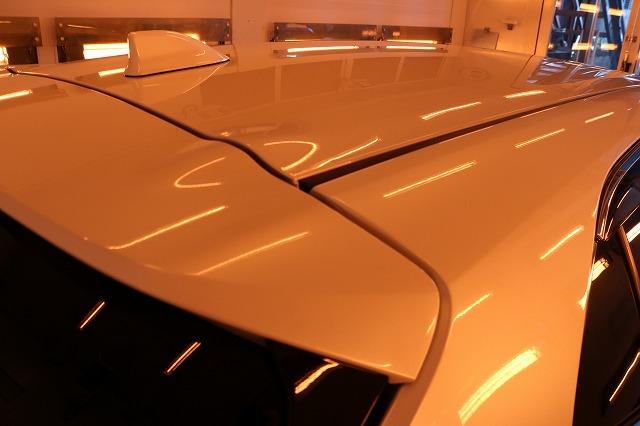 トヨタカローラスポーツカーコーティング ルーフ焼き付け画像