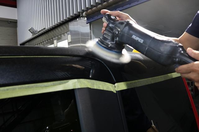トヨタルーミーにカーコーティング施工 磨き画像