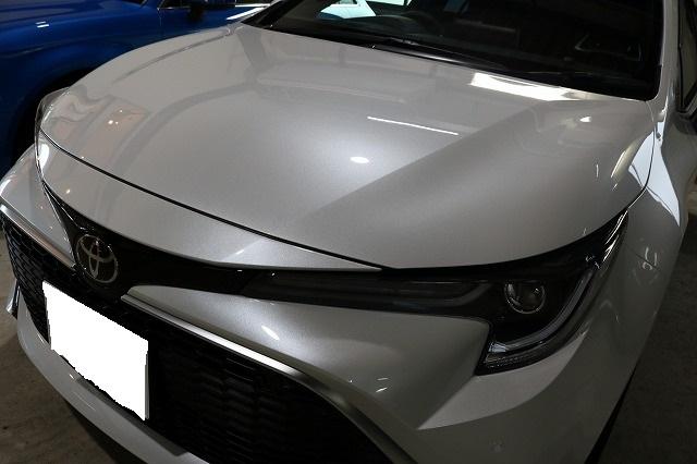 トヨタカローラスポーツカーコーティング施工後 フロント画像