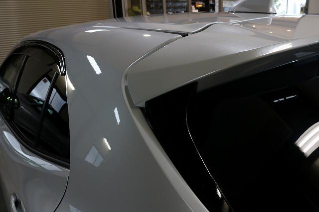 トヨタカローラスポーツカーコーティング施工後 ルーフ画像
