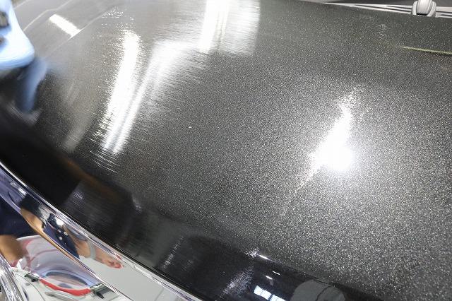 トヨタルーミーにカーコーティング施工 コーティング塗布画像