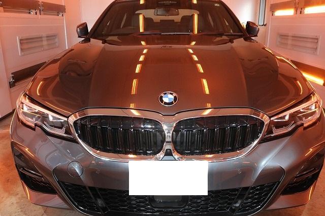 BMW3 カーコーティング セラミックプロ9Hコーティング遠赤外線画像