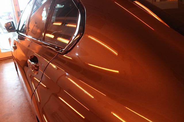BMW3 カーコーティング セラミックプロ9Hコーティング遠赤外線リアサイド画像
