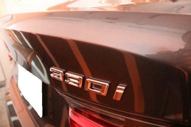BMW3 カーコーティング セラミックプロ9Hコーティング遠赤外線ロゴ画像