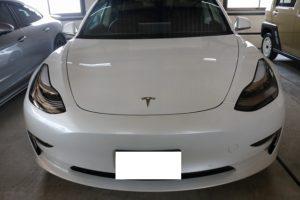 テスラモデル3カーコーティング画像