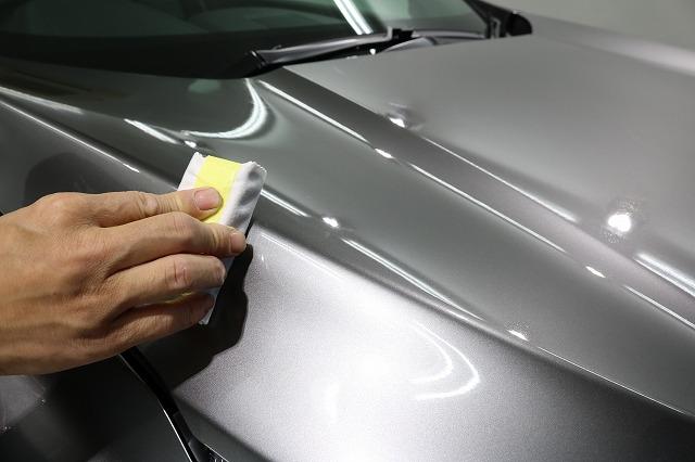 ホンダCR-Vカーコーティング トップコート塗布画像