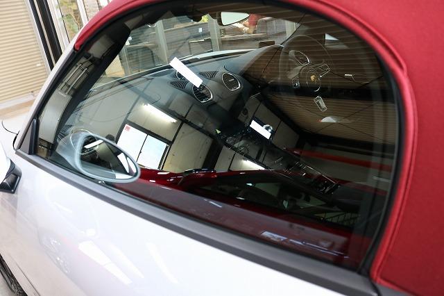 ポルシェボクスターにカーコーティング施工後 フロントガラス画像