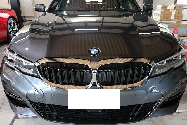 BMW3 カーコーティング ウィンドコーティング施工後 画像