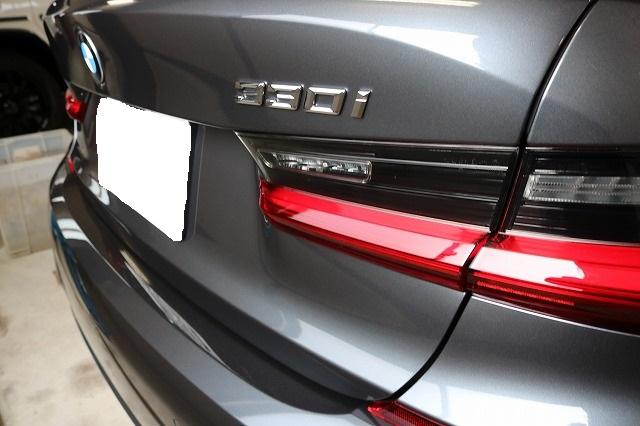 BMW3 カーコーティング セラミックプロ9Hコーティング施工後 リア画像