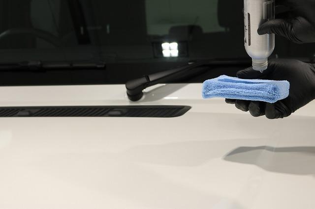 メルセデスベンツG350dファインラボヒールライト コーティング塗布画像