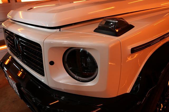 メルセデスベンツG350dファインラボヒールライト 遠赤外線ブースフロントサイド画像