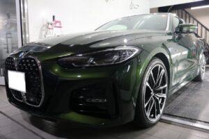 BMW4 ヒールライト コーティング画像