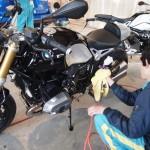 2台目のBMWバイクコーティングを施工させて頂きました。