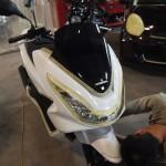 東京都よりご来店のPCXにCeramicPro9H+CR-1バイクコーティングを施工させて頂きました。